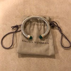 David Yurman Cable Classics Bracelet Green Onyx